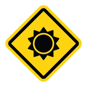 sunscreen safety sign