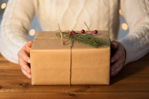 person holiday gift