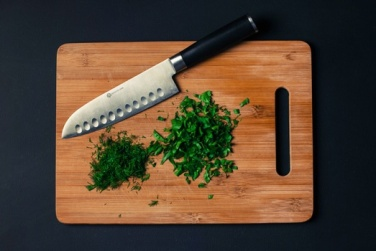 herbs with knife